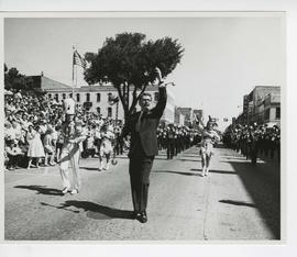 Meredith Willson leads the North Iowa Band Festival parade, June 19,1962.
